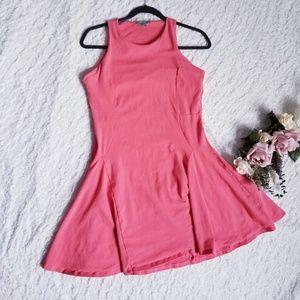 ASOS Coral Fit & Flare Skater Sleeveless Dress 10